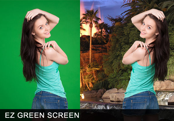 green screen spill suppression in hair